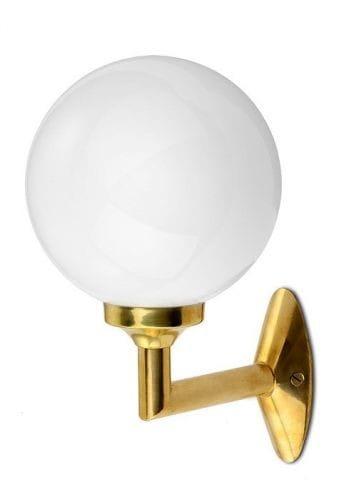 kugel wandlampe im art d co stil aus messinggu mit opalglas. Black Bedroom Furniture Sets. Home Design Ideas