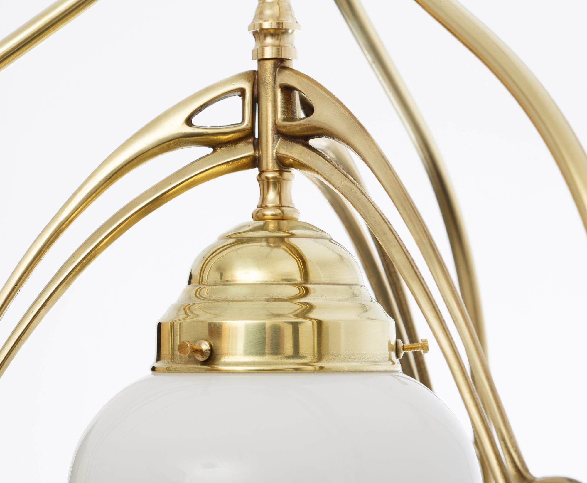 Außergewöhnlich Messing Deckenlampe Sammlung Von Jugendstil Deckenleuchte D 680/4/621 Berliner / Mit